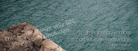 """Facebook Cover Image """"Rock & Water"""""""