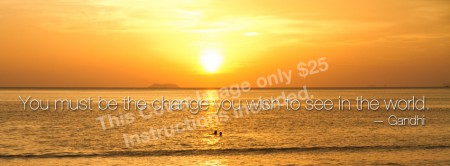 """Facebook Cover Image """"Sunset on Water"""""""