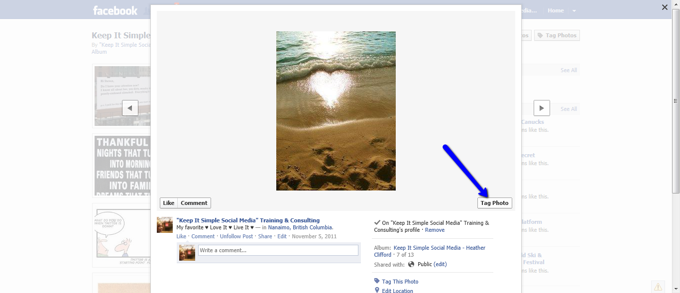 how to delete photos on facebook business page